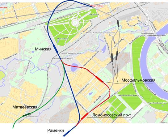Схема метрополитена раменки